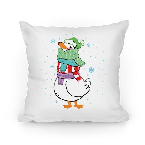 Scarf Duck Pillow