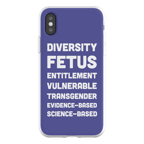 CDC Banned Words Phone Flexi-Case