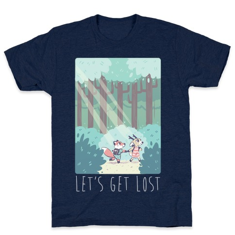 77ef0576 Let's Get Lost - Fox and Deer T-Shirt
