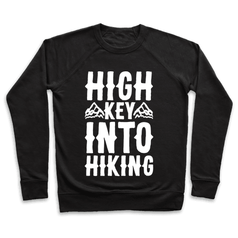 High Key Into Hiking White Print Pullover