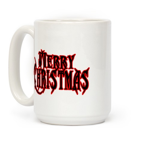 Merry (Metal) Christmas Coffee Mug