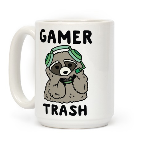 Gamer Trash Raccoon Coffee Mug
