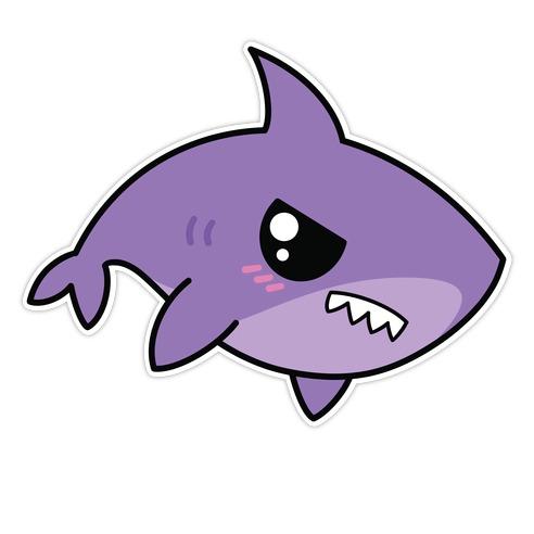 Angy Shark Die Cut Sticker