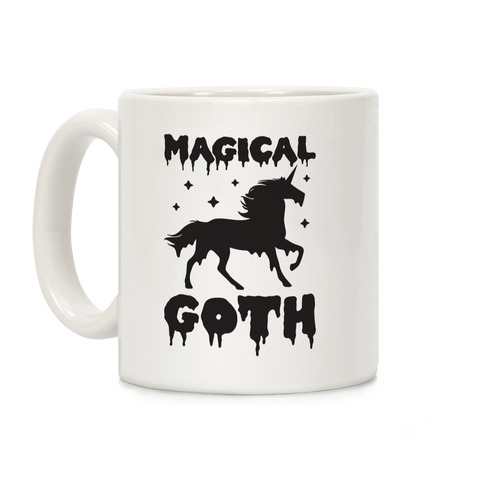 Magical Goth Unicorn Coffee Mug