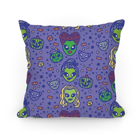 Witch Alien Sisters Parody Pillow