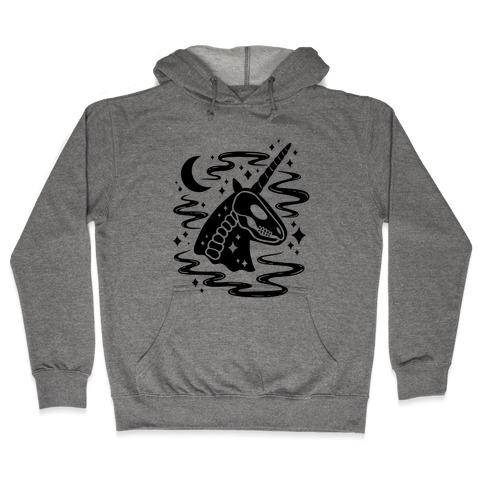 Spooky Ghost Unicorn Hooded Sweatshirt