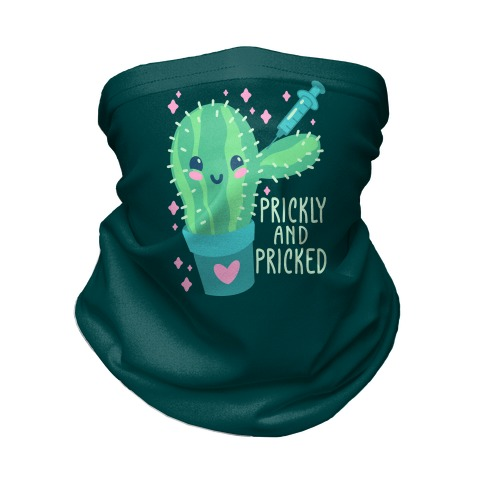 Prickly And Pricked Cactus Neck Gaiter