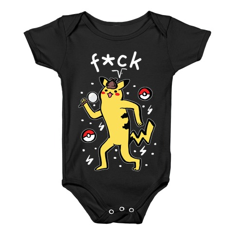 F*ck Pikachu Parody Baby Onesy