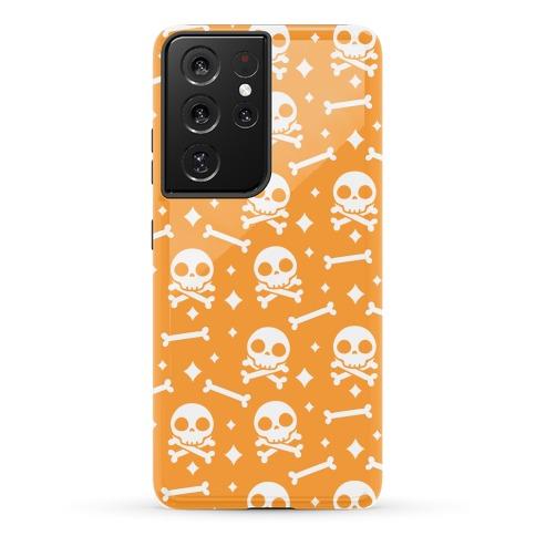 Cute Skull N' Bones Pattern (Orange) Phone Case