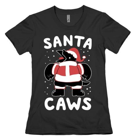 Santa Caws Womens T-Shirt