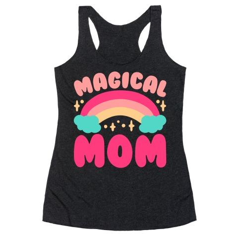 Magical Mom White Print Racerback Tank Top