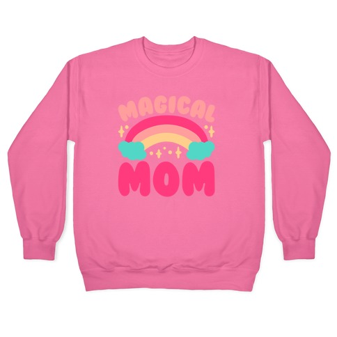 Magical Mom White Print Pullover