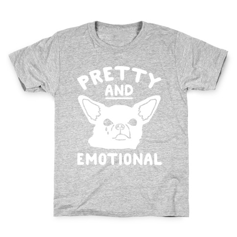 Pretty and Emotional White Print Kids T-Shirt