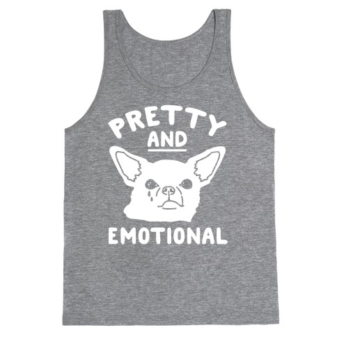 Pretty and Emotional White Print Tank Top