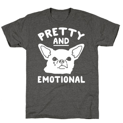 Pretty and Emotional White Print T-Shirt