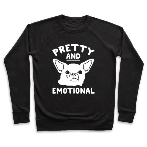 Pretty and Emotional White Print Pullover