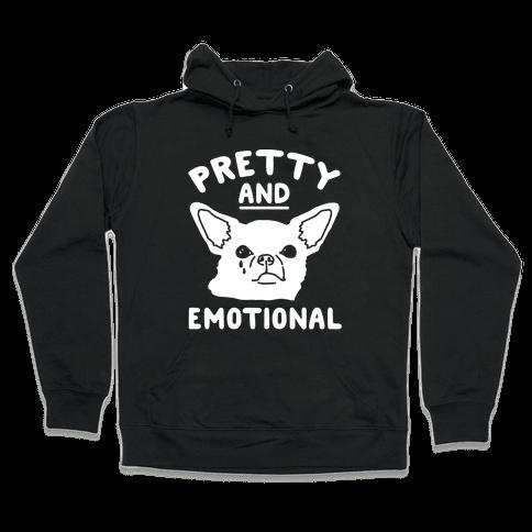 Pretty and Emotional White Print Hooded Sweatshirt