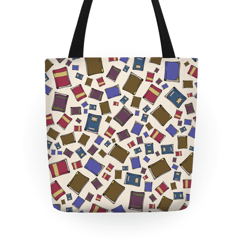 Book Collection Pattern Tote