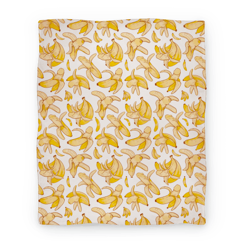 Banana penis pattern Blanket