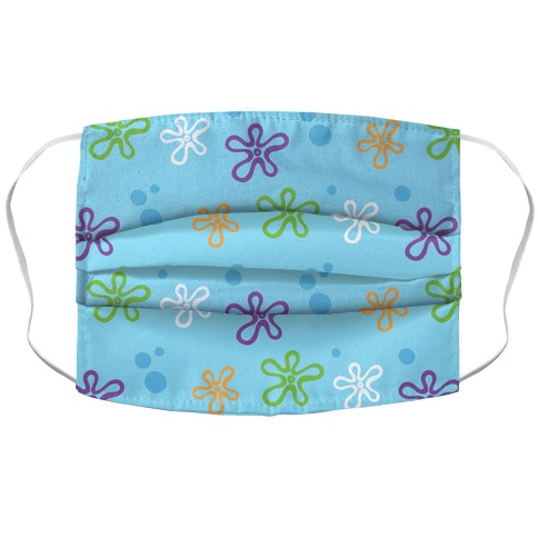 Dreamy Underwater Flower Sky Accordion Face Mask