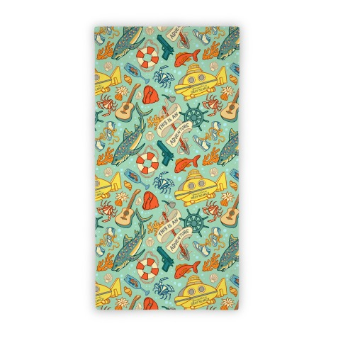 Life Aquatic Nautical Pattern Beach Towel