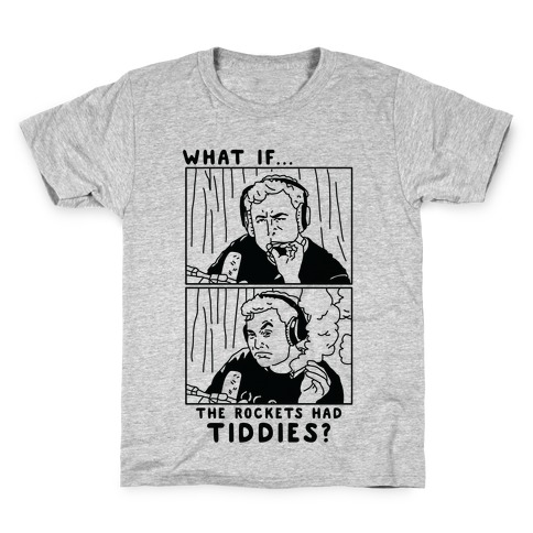 What if the Rockets Had Tiddies? Weed Smoking Elon Musk Kids T-Shirt