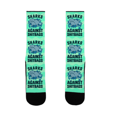 Sharks Against Shitbags Sock