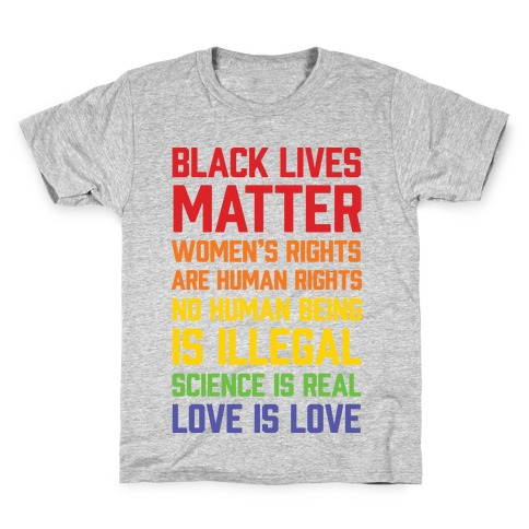 Black Lives Matter List Kids T-Shirt