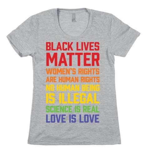 b04b6738a Black Lives Matter List Womens T-Shirt