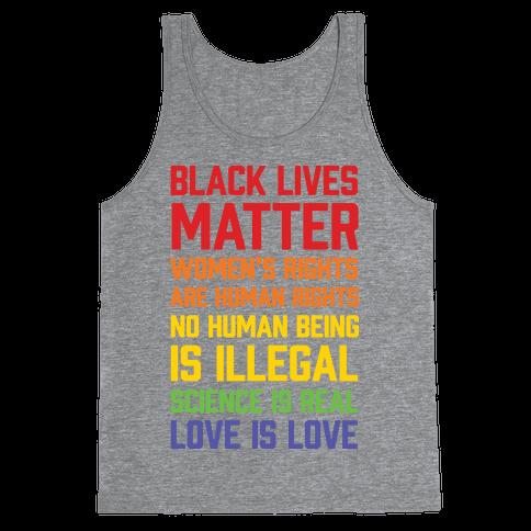 Black Lives Matter List Tank Top
