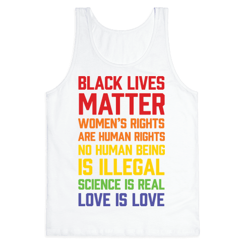 Black Lives Matter List Tank Top