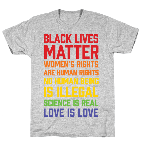 Black Lives Matter List Mens T-Shirt