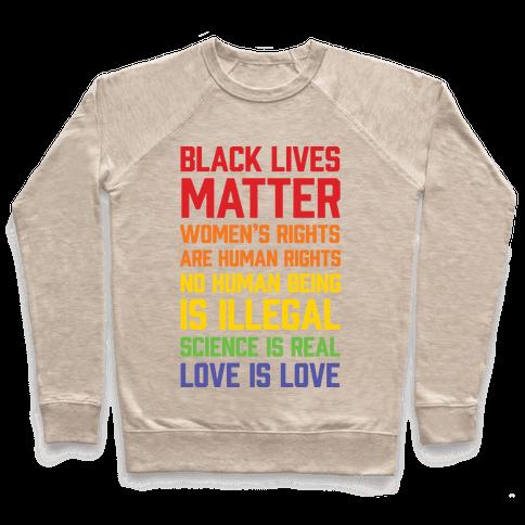 Black Lives Matter List Pullover