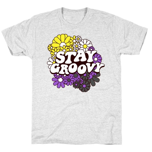Stay Groovy (Nonbinary Flag Colors) Mens/Unisex T-Shirt