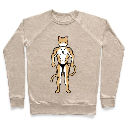 Buff Cat White Brown Grey Pullover