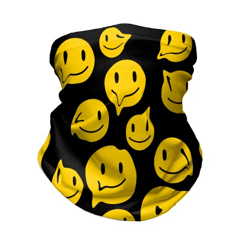 Melting Smiley Faces Neck Gaiter