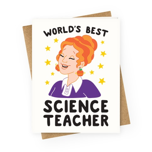 World's Best Science Teacher Greeting Card
