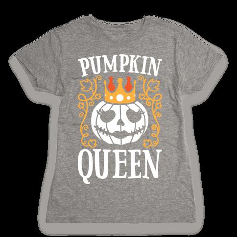 Pumpkin Queen (White) Womens T-Shirt