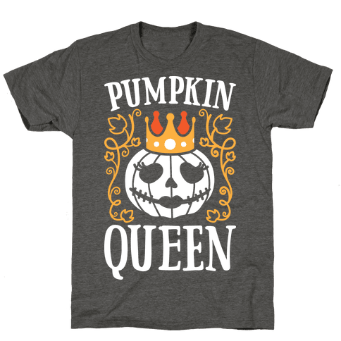 Pumpkin Queen (White) Mens/Unisex T-Shirt