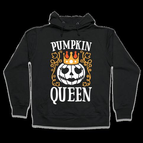 Pumpkin Queen (White) Hooded Sweatshirt