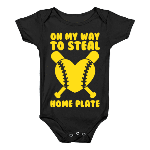On My Way To Steal Home Plate Baby Onesy