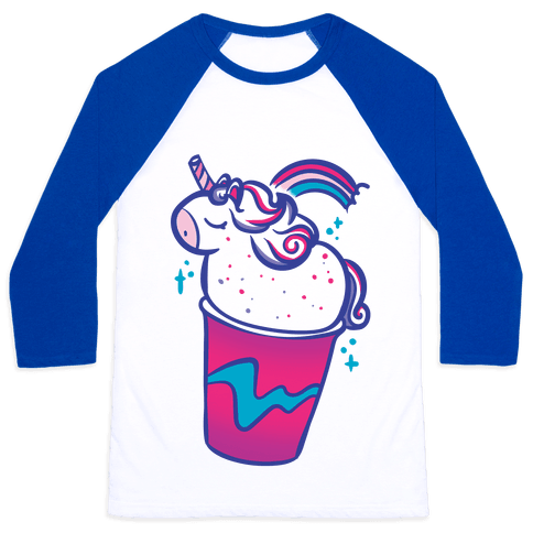 Unicorn Frapp Baseball Tee