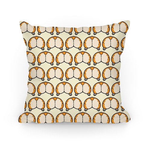 Corgi Butt Pattern Pillow