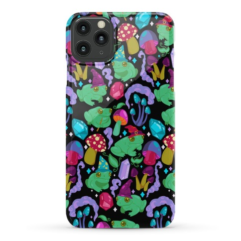 Magical Mushroom Frogs Pattern Phone Case