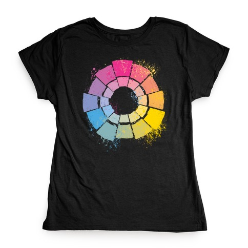 Pan Pride Color Wheel Womens T-Shirt
