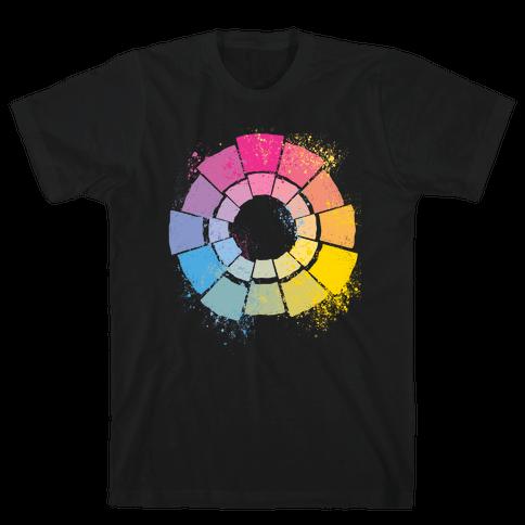 Pan Pride Color Wheel Mens/Unisex T-Shirt