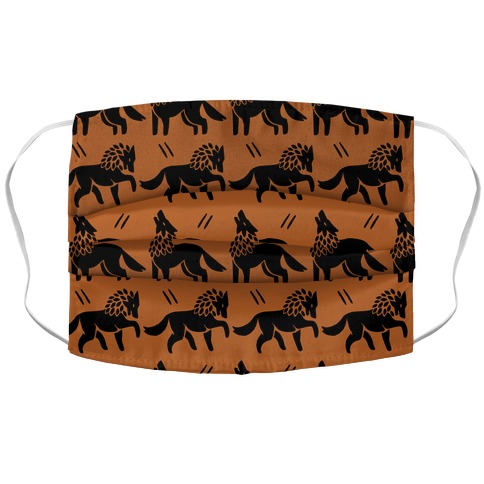 Wolf Rust Boho Pattern Face Mask Cover