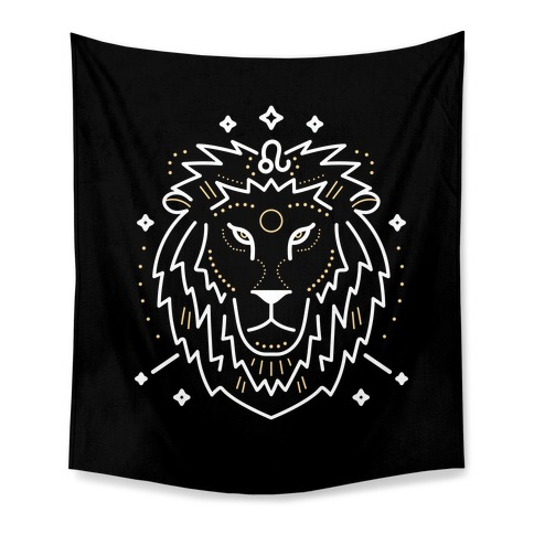 Astrology Leo Lion Tapestry