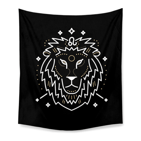 Astrology Leo Lion Tapestry