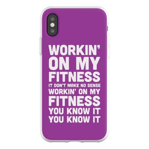 Workin' On My Fitness Finesse Parody Phone Flexi-Case